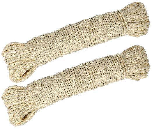 Lantelme 3975 2 x 50 m=100 m natural Sisal cuerda, cuerda ...