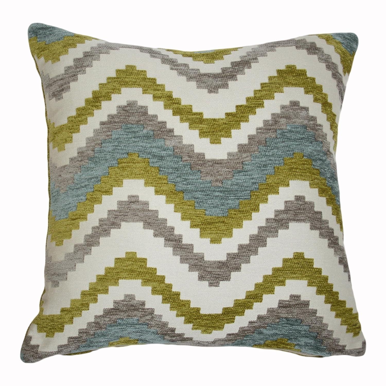 Woven Pillow Cover Sham in Black /& Grey Striped Zig Zag Chevron Aztec Decorative Zip Pillowcase Cushion Case Moroccan Boho Accent Decor McAlister Textiles Navajo Square 24x24 Inches