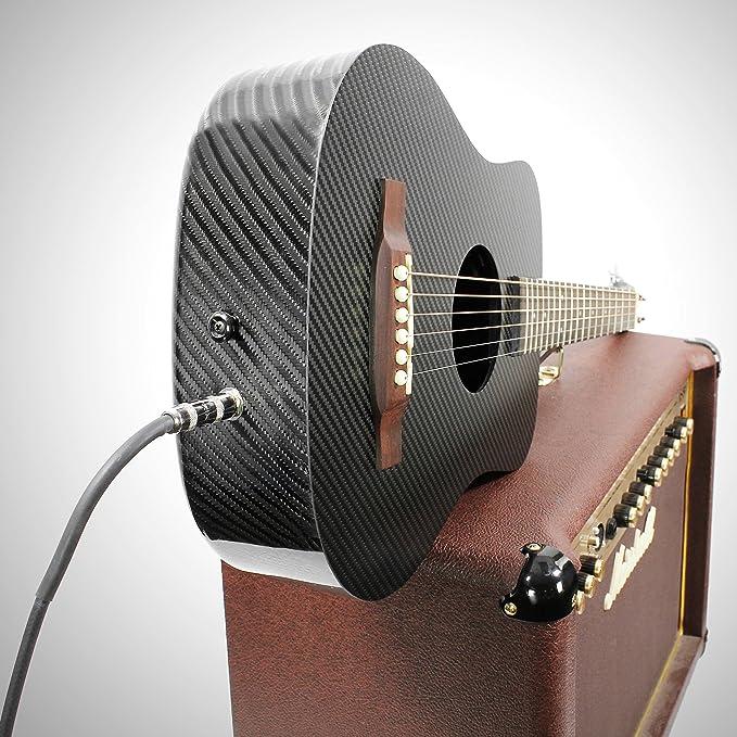 KLOS Paquete de guitarra eléctrica acústica de viaje, de fibra de carbono, color negro (guitarra, bolsa de gigo, correa, capo, y más): Amazon.es: ...