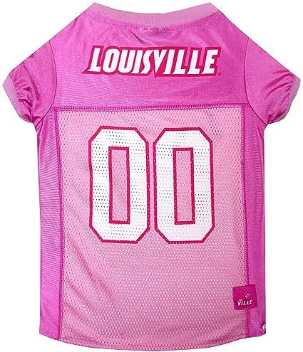 406d20ad2ccb Amazon.com   NCAA Louisville Cardinals Dog Pink Football Jersey ...