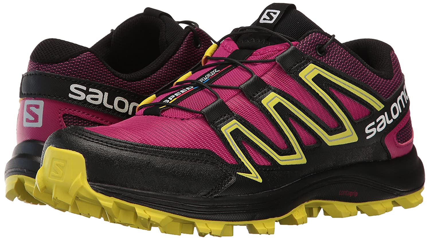 Salomon Women's Speedtrak 10 W-W Trail Runner B01HD2P5MK 10 Speedtrak B(M) US|Sangria/Sulphur Spring/Black 68d485