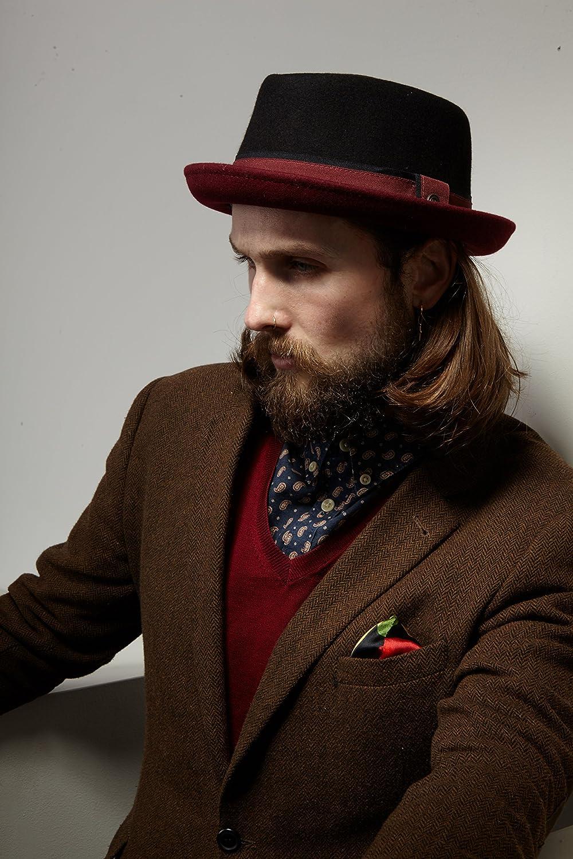 Dasmarca Mens Crushable /& Packable Wool Felt Pork Pie Hat