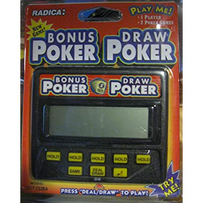 Radica Bonus Poker & Draw Poker Electronic Handheld Game: Toys & Games