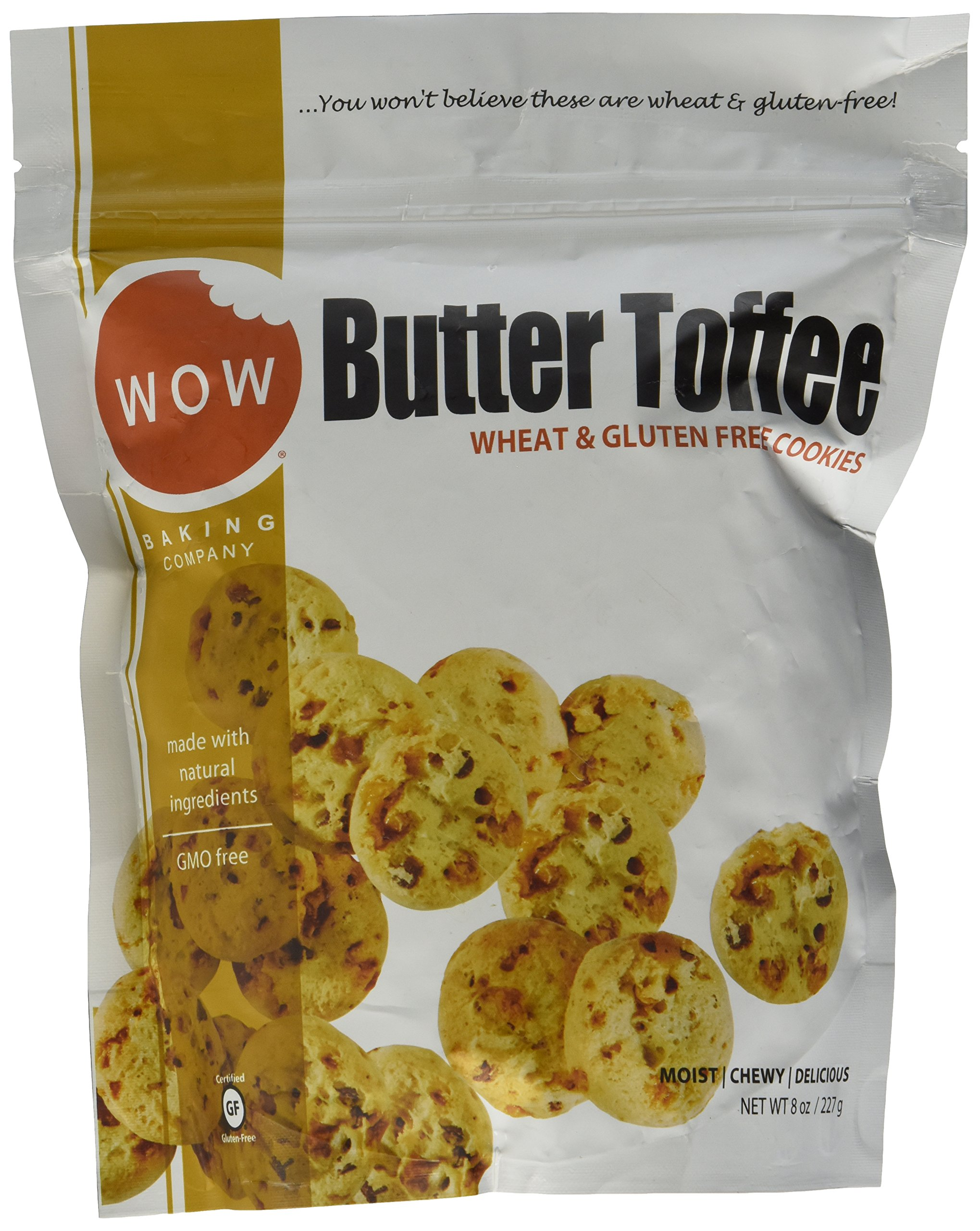WOW BAKING COMPANY Butter Toffee (Gluten Free) (Resealable Pouch), 8 Ounce