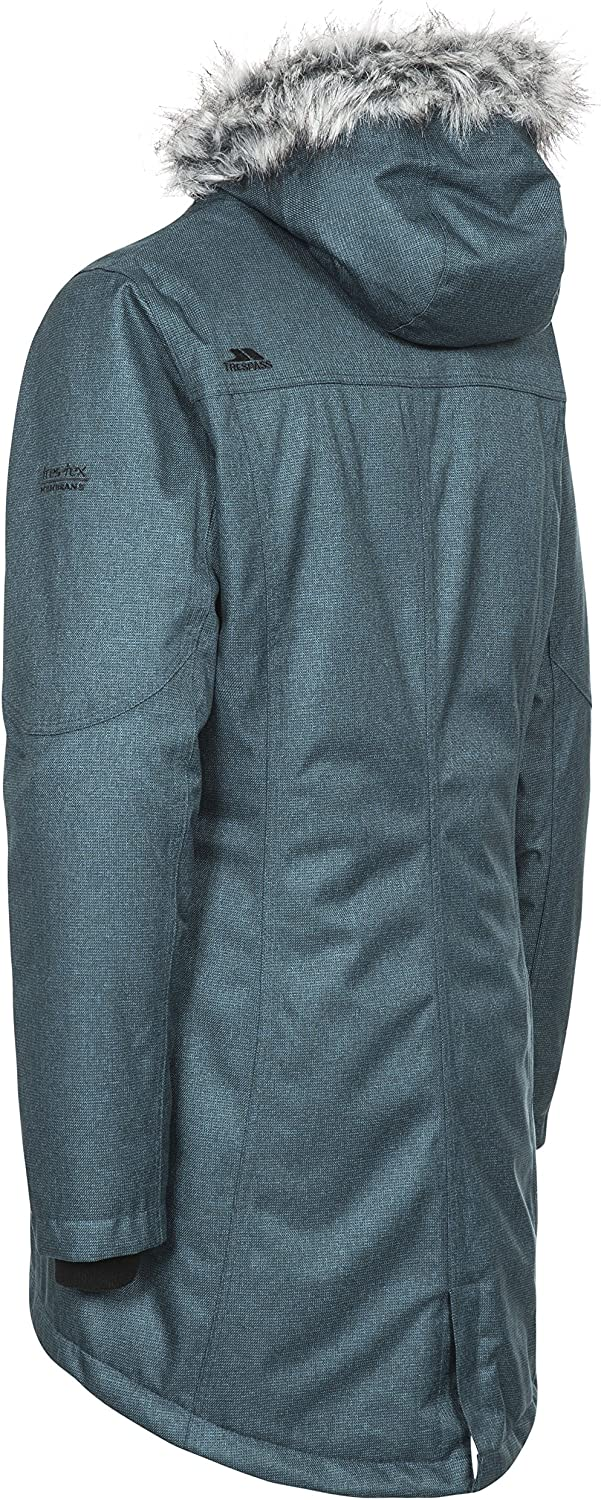 L Teal//Silver Grey Large Grey Warm Waterproof Padded Winter Jacket for Women Trespass Thundery