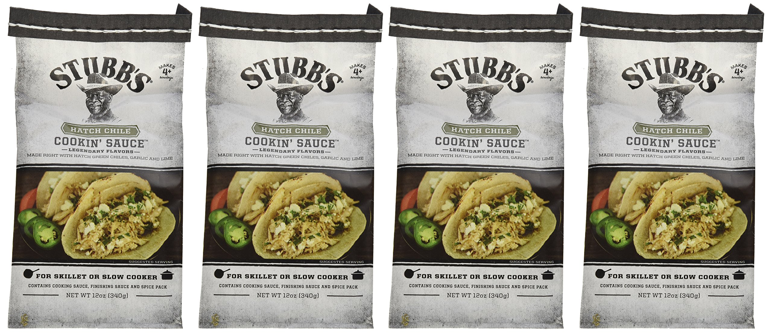 Stubb's Hatch Chili Cookin Sauce 12 oz ( 4 pack) by Stubb's (Image #1)