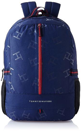 Tommy Hilfiger Alaska Polyester 24 Ltrs Navy Laptop Backpack (8903496078688) 57be66c711519
