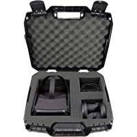 Casematix Carry Case with Customizable Foam Compatible with Oculus Quest Vr Headset and Quest Controllers with Impact Protection