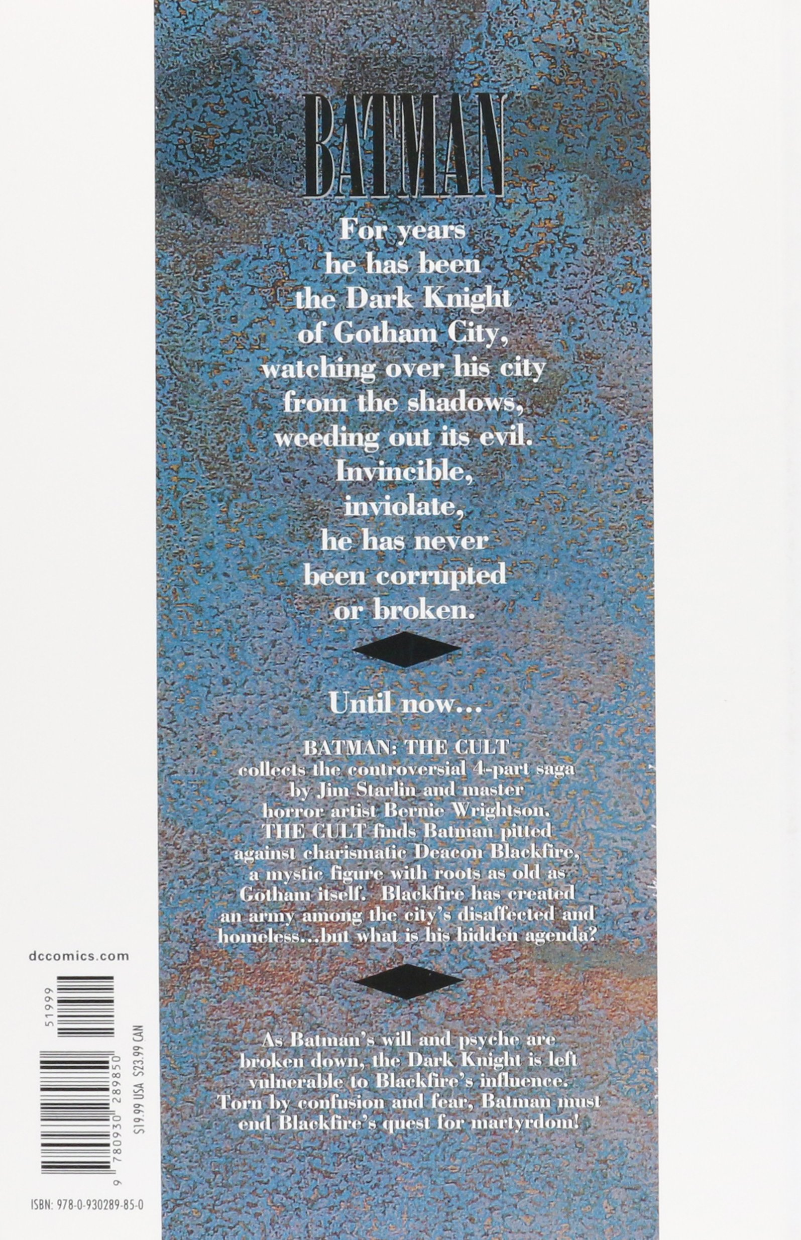 Batman The Cult TP: Amazon.es: Jim Starlin, Bernie Wrightson ...