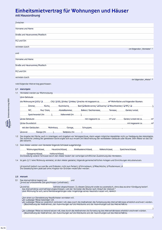Avery 2850 unidad de contrato de arrendamiento de apartamentos y casas, A4, con reglas de la casa, 1 set / 5 piezas, azul: Amazon.es: Oficina y papelería