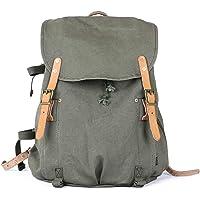 Gootium Canvas Backpack - Vintage Military Rucksack Travel Dayack