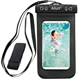 Waterproof Armband,by Ailun,Universal for iPhone 6 Plus/6/6s/5s/5c,Samsung Galaxy S6/EDGE/S5/S4/NOTE 4/3 /2,Google Nexus 6/5/4, LG G4 G3,Sony Xperia Z3 Z2 Z1,for Boating/Hiking/Swimming/Diving[Black]