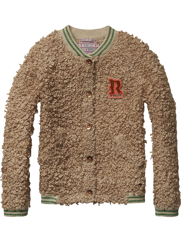 Scotch R'Belle Mädchen Strickjacke Chunky Knitted Bomber Cardigan