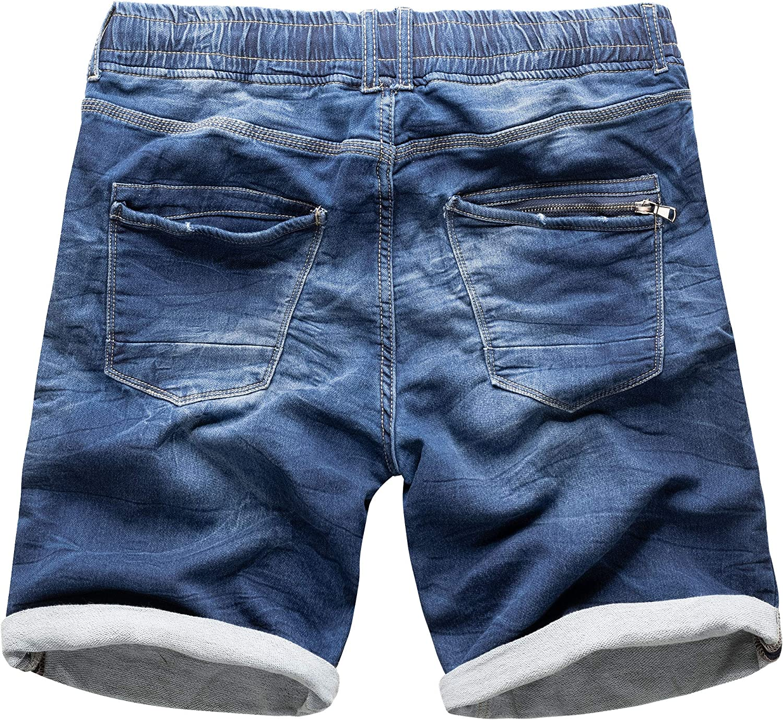 SUBLEVEL Sweat Jeans Shorts Herren kurze Hose Look Short Sommer Denim Bermuda