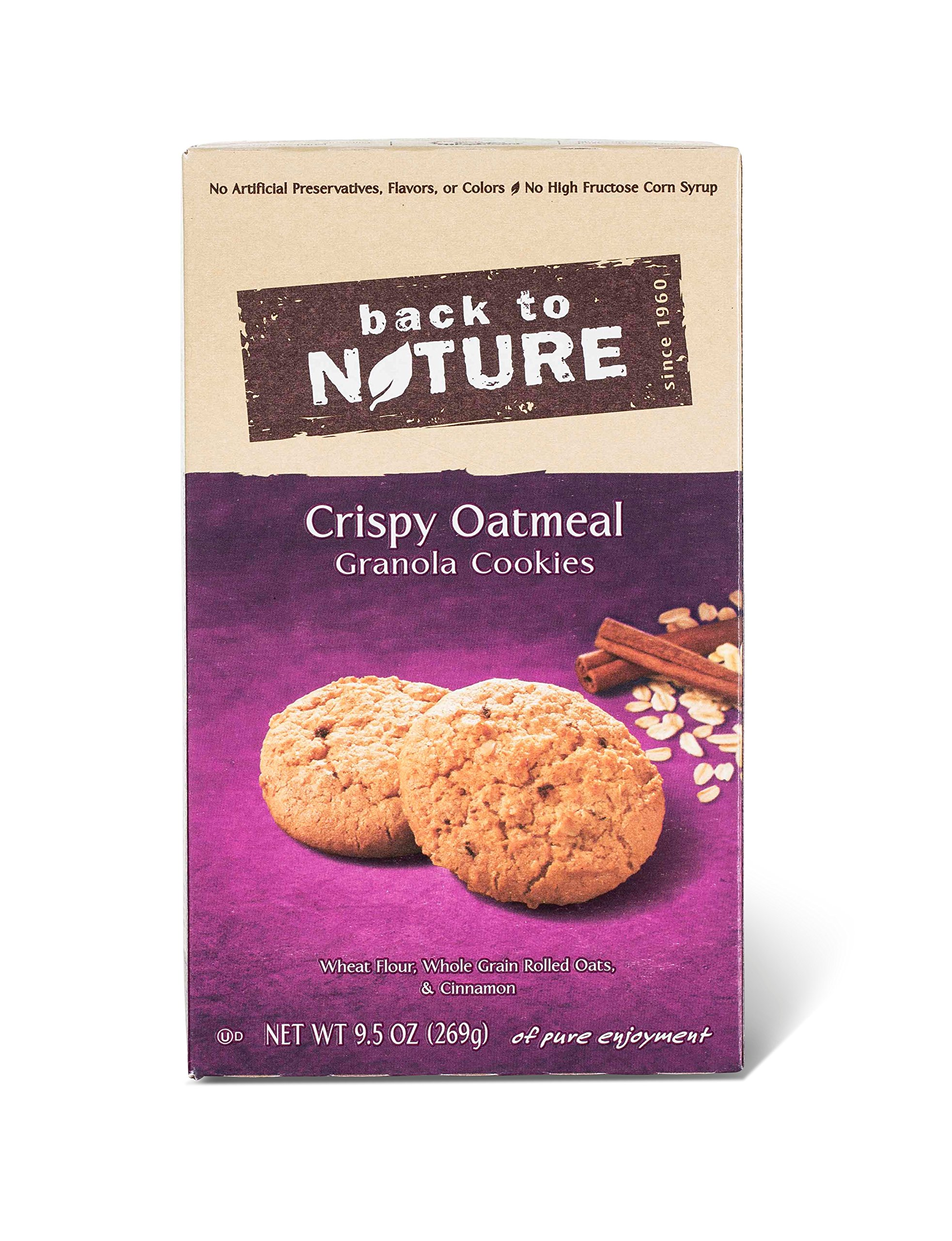 Back to Nature Crispy Oatmeal Cookies, 9.5-Ounce Boxes (Pack of 12)