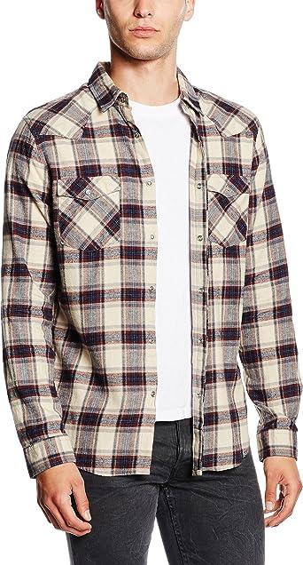 New Look Vintage Western Camisa, Marfil (Cream Pattern ...