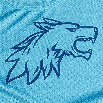 Wisdom Wolf Herren Kurzarm Shirt MTB Leicht Atmungsaktiv Sanft Sport Fitnessstudio Radtrikot