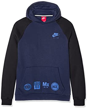 Nike B NSW HD Po Air Sudadera, Niños, Azul (Obsidian/Black/Game Royal), S: Amazon.es: Deportes y aire libre