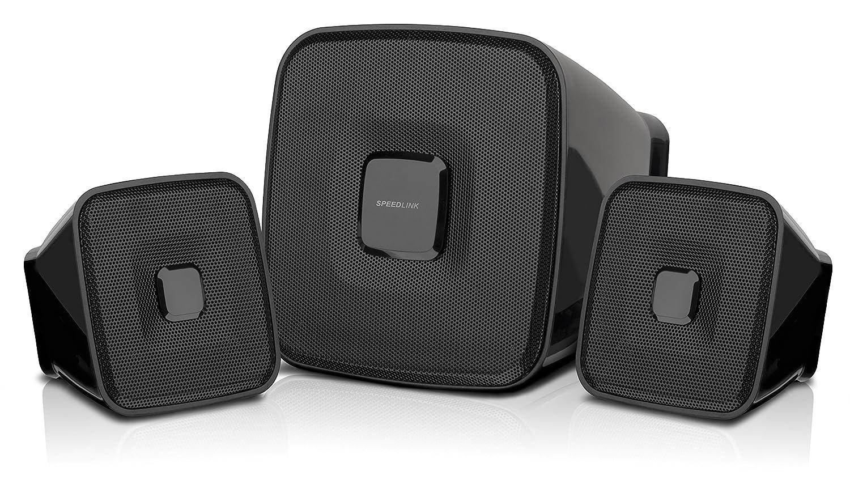 SpeedLink Quaint 2.1 - Set de altavoces (2.1, 7 W, stand-alone, 3.5 mm y USB, activo) negro Speed-Link SL-8204-BK