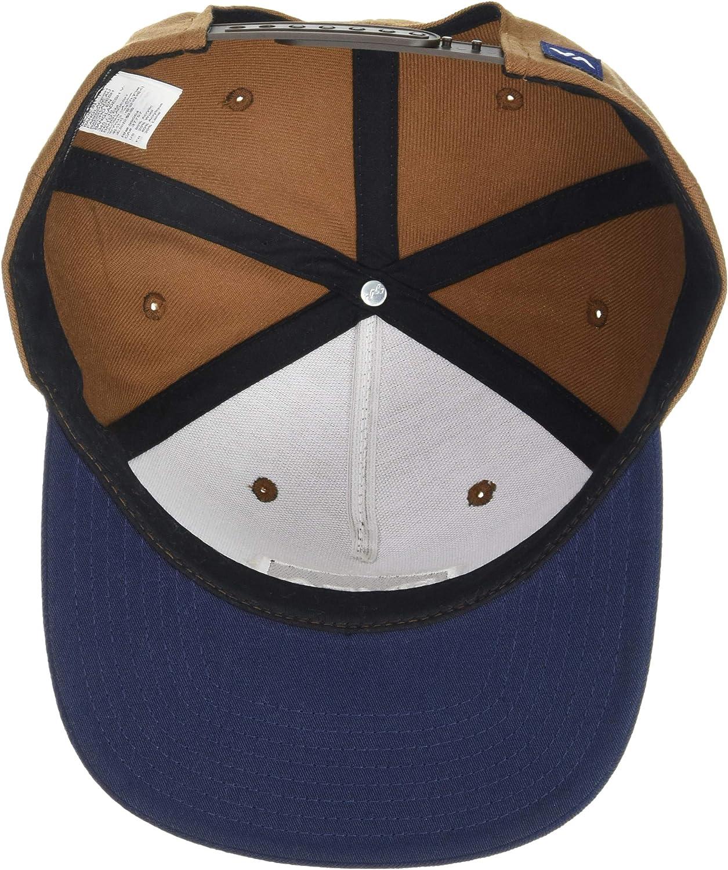 RVCA Commonwealth Snapback Hat Black 1SZ: Clothing