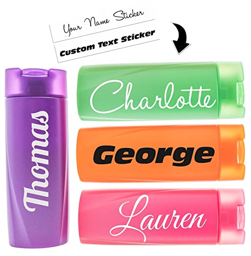 Personalised stickers for water bottles custom name lettering drinks bottle sticker