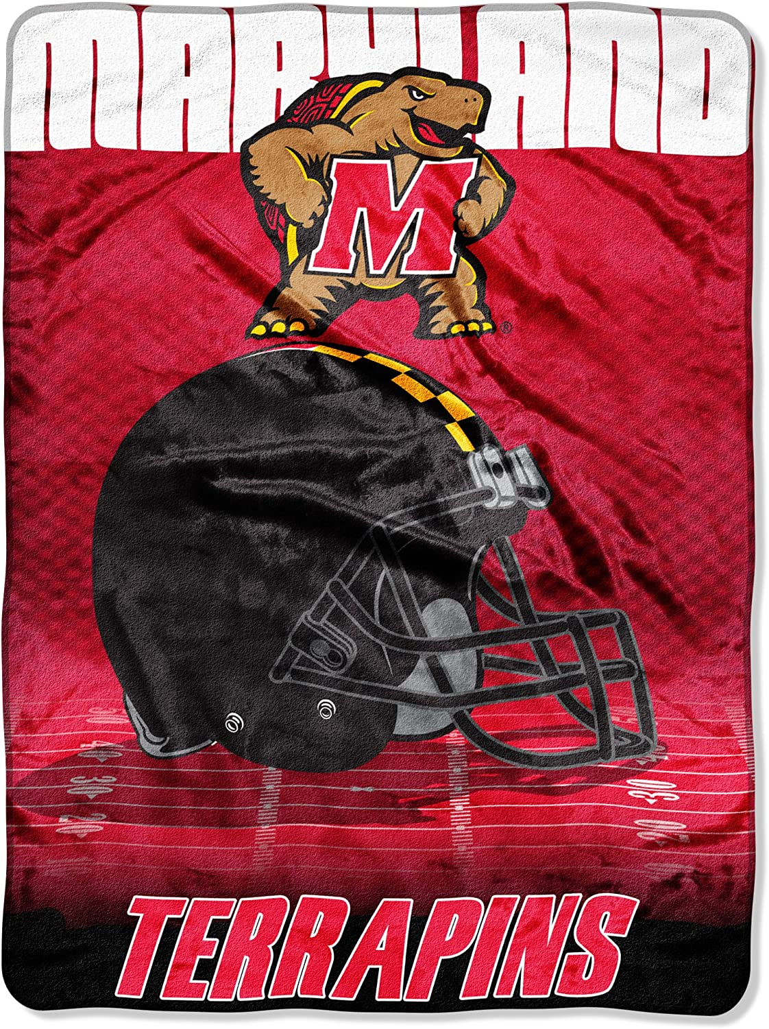 Officially Licensed NCAA Overtime Micro Raschel Throw Blanket 60 x 80 Multi Color