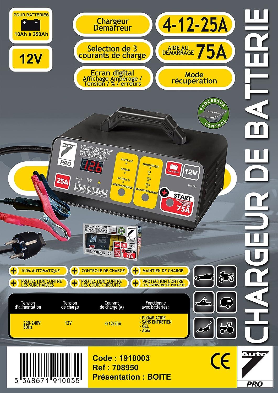 Chargeurs de batteries voiture : Auto7 708.950 chargeur de