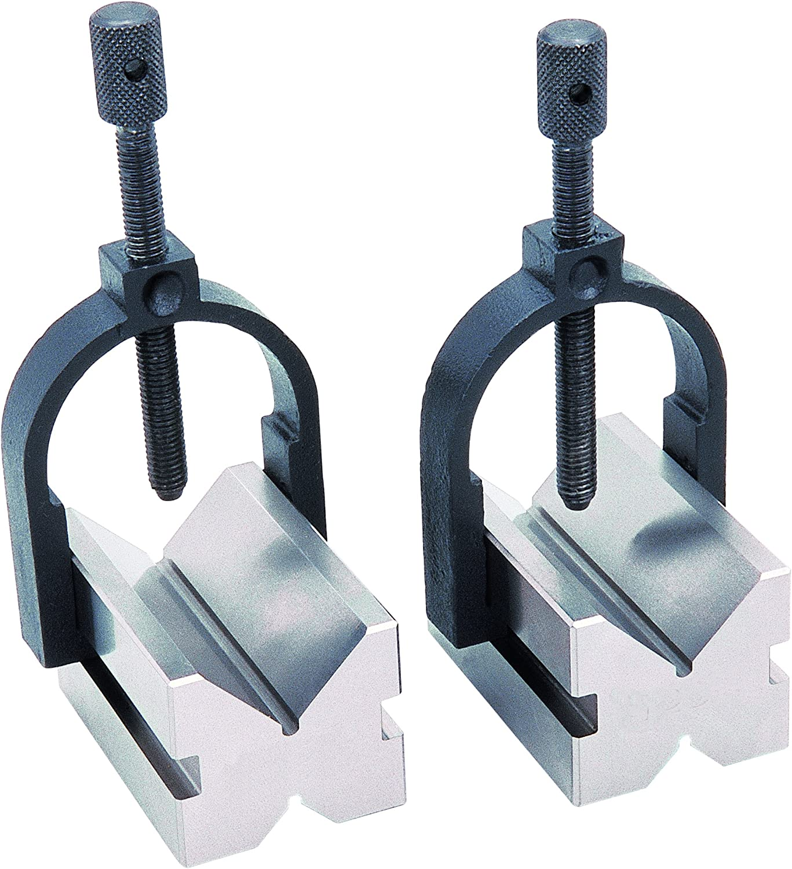 "#03001 Pair GROZ Toolmaker/'s V-Block and Clamp Set | Block Length: 2/"""