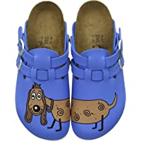 Birkenstock Women's Clogs and Mules, Blue Dog Blue, 7.5 us