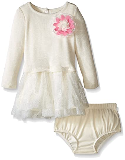 147f7138713d Amazon.com  Nannette Baby Girls Mock 2Piece Iridescent Sweater Knit ...