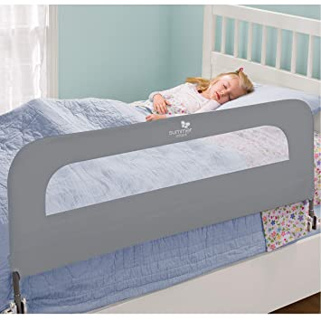 buy online e63f6 dcd73 Summer Extra Long Folding Single Bedrail, Grey