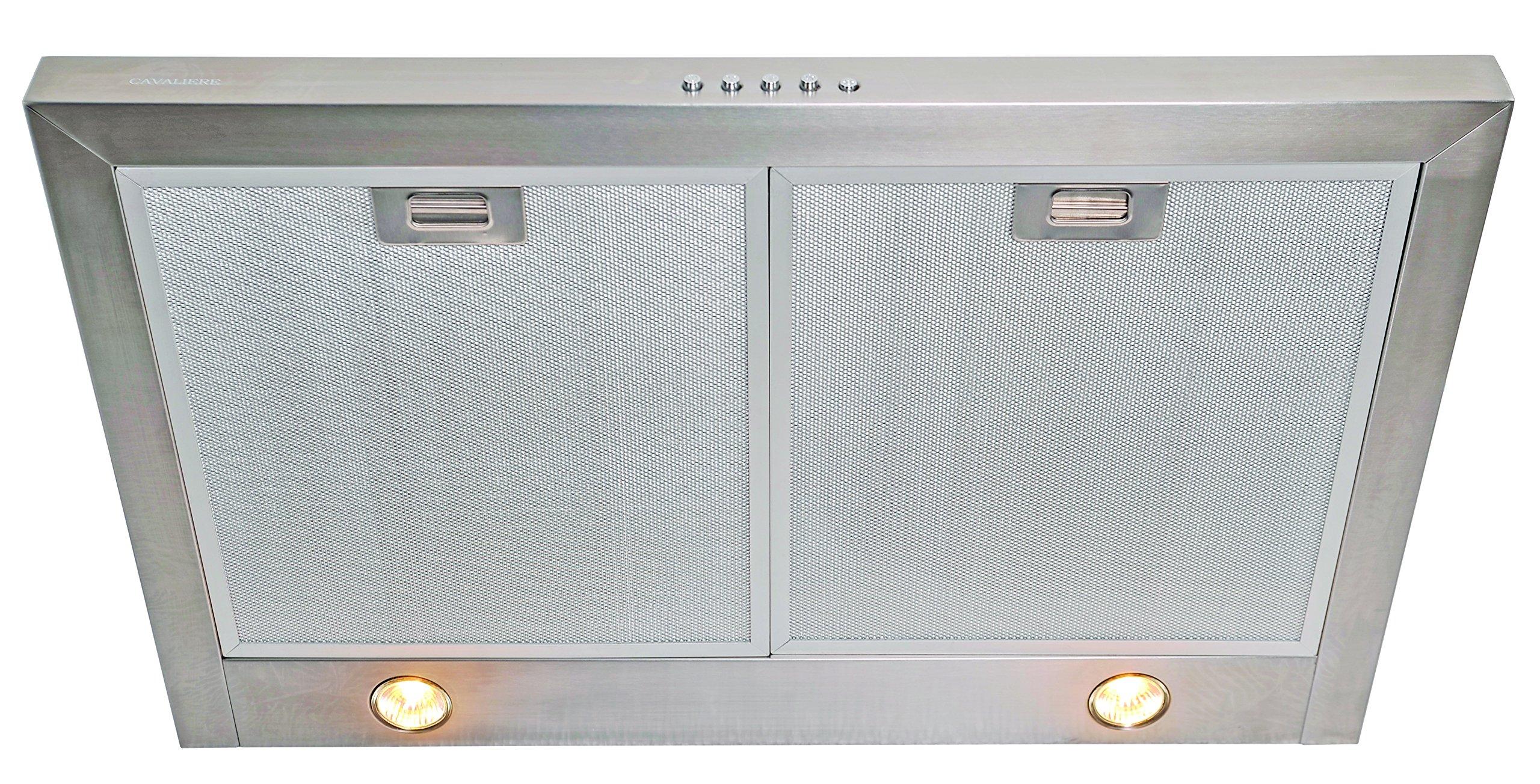 CAVALIERE UC200-1830S Under Cabinet Stainless Steel Kitchen Range Hood, 280 CFM by CAVALIERE