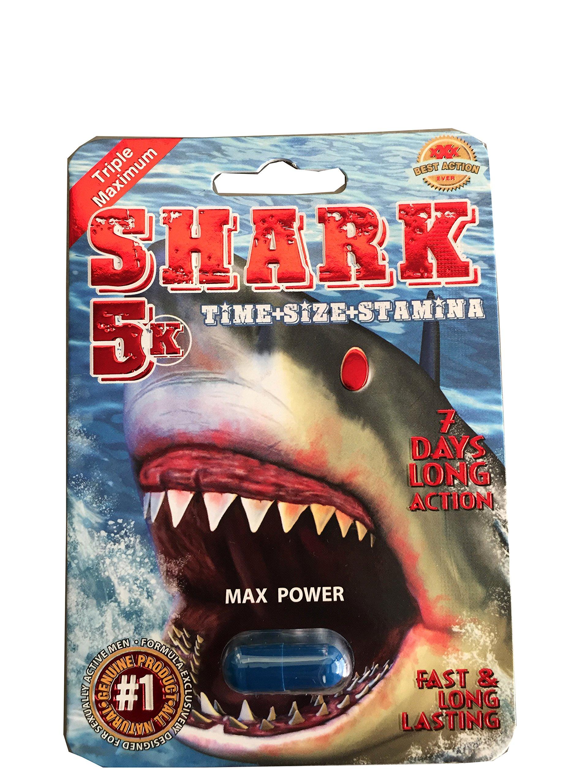 Shark 5K Triple Maximum Male Enhancement Sex Pill! 7 Days Long Action!- 24 Pills!