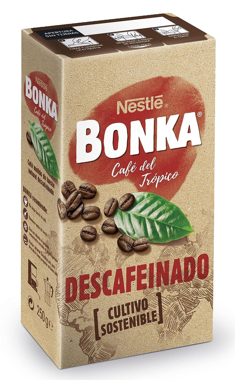 Bonka - Café tostado molido descafeinado - Natural - 250 g: Amazon.es: Alimentación y bebidas