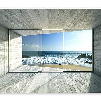 ... pintado tejido no tejido Decoración de Pared decorativos Murales moderna Diseno Fotográfico naturaleza Paisaje ventana c-a-0084-a-c: Amazon.es: Hogar