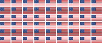 Mini Aufkleber Set Pack Glatt 20x12mm Sticker Usa United States Flagge Banner Standarte Fürs Auto Büro Zu Hause Und Die Schule 54 Stück Bürobedarf Schreibwaren