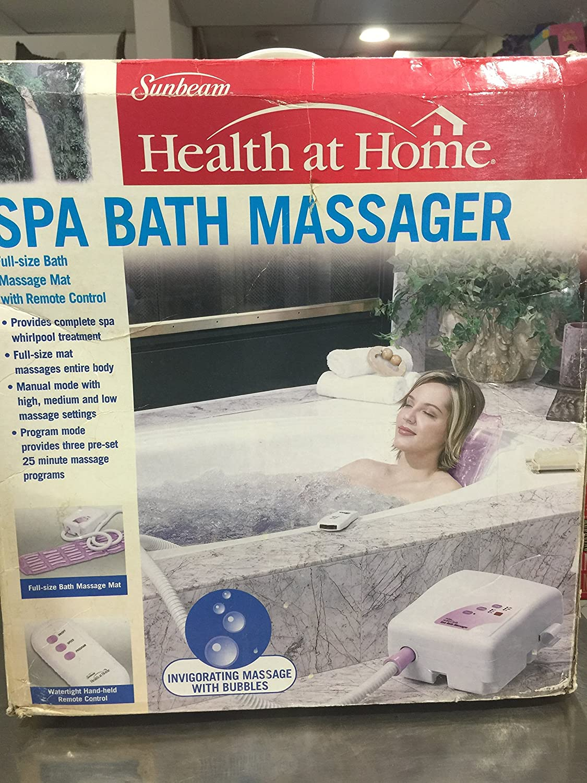 Amazon.com: Sunbeam Health at Home Spa Bath Massager (1): Beauty
