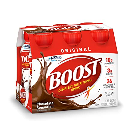 Amazon.com : Boost Rtd Orig Rich Choco Size 2-12p Boost Ready To Drink Original Rich Chocolate 2-12pk : Grocery & Gourmet Food