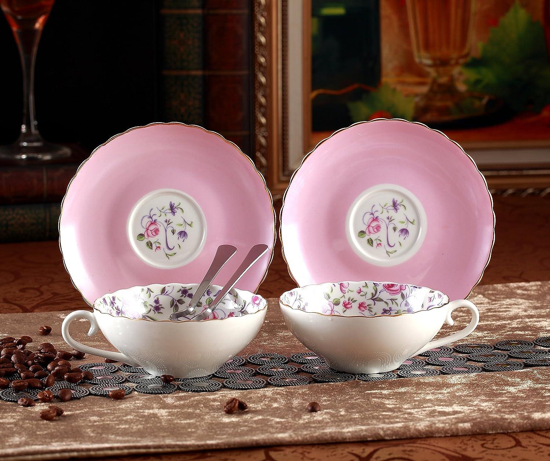 Amazon.com   Jusalpha Elegant Porcelain Tea Cup and Saucer Set ...