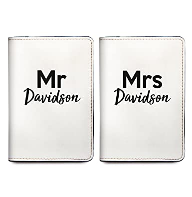 524a3fb2f Image Unavailable. Image not available for. Color  Mr and Mrs - Couple Passport  Holder Personalized Passport Cover Set of 2