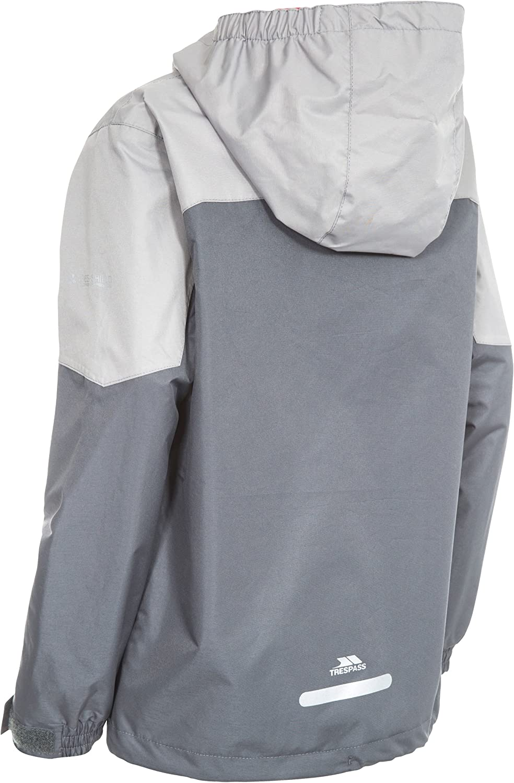 Trespass Kids Tiebreaker Waterproof Rain Jacket with Removable Hood