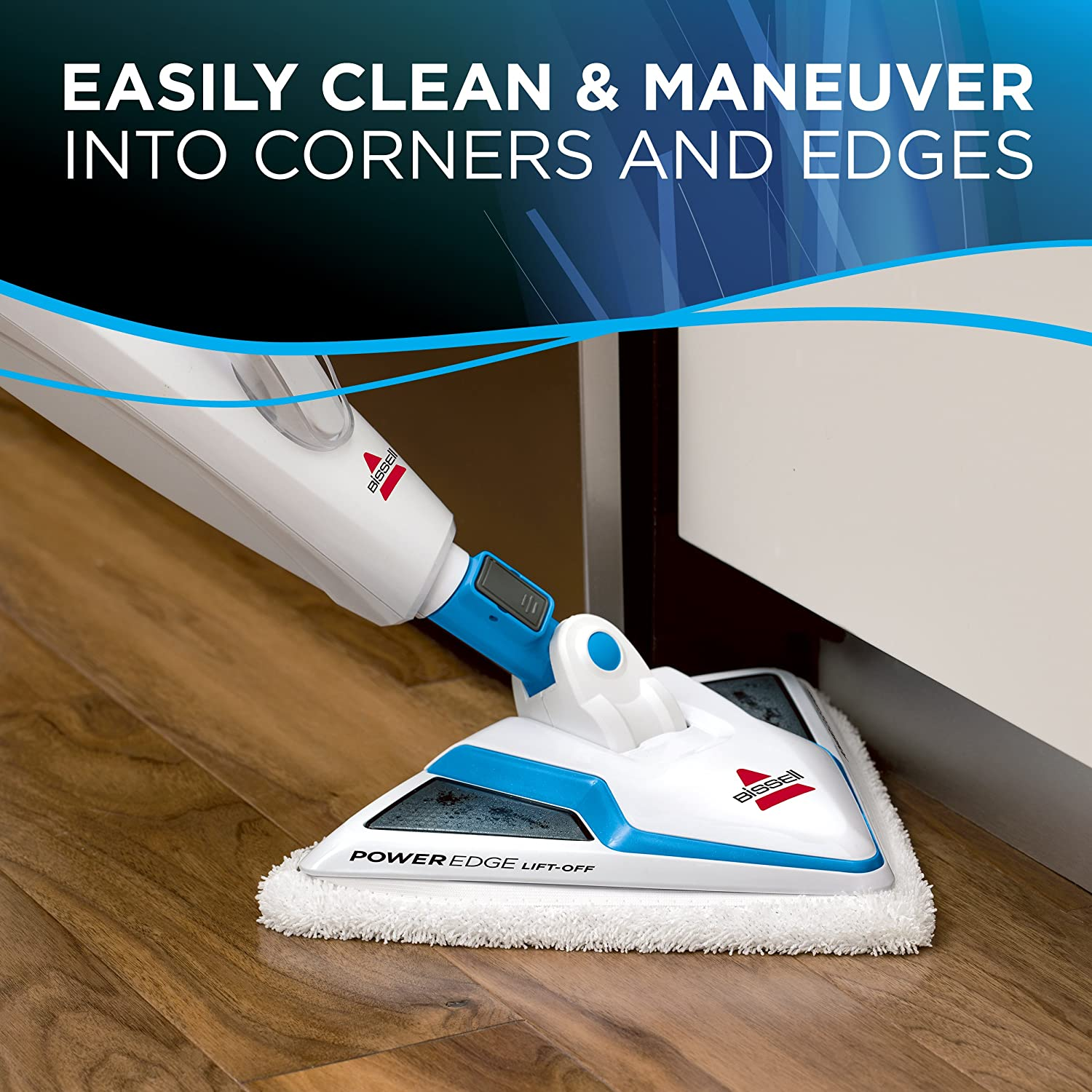 Bissell PowerEdge Lift Off Hard Wood Floor Cleaner, Tile Cleaner Steam Mop with Microfiber Pads