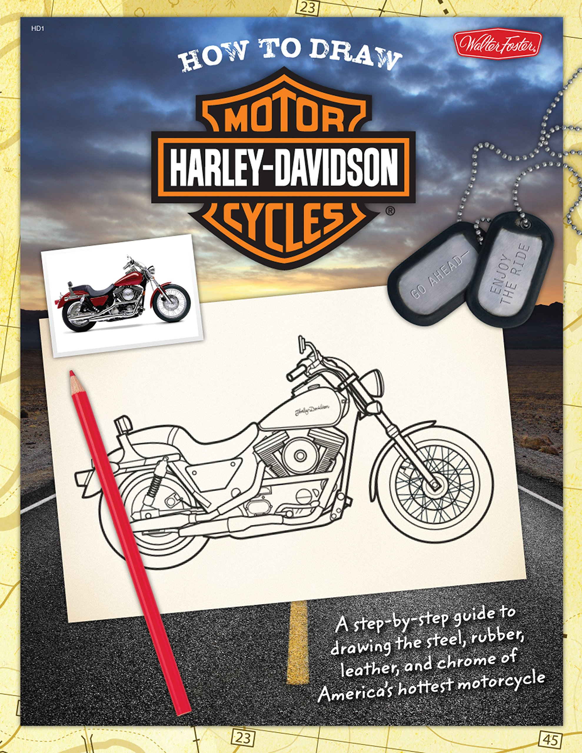 How to Draw Harley-Davidson Motorcycles: A step-by-step guide to drawing the steel, rubber, leather, and chrome of America's hottest motorcycle Paperback – July 1, 2010 Jickie Torres Tom LaPadula Walter Foster Publishing 1600581773