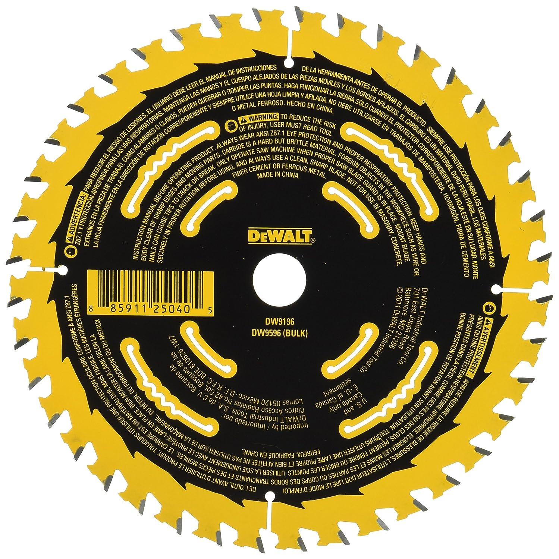 Dewalt dw9196 6 12 inch 40t cutting precision finishing saw blade dewalt dw9196 6 12 inch 40t cutting precision finishing saw blade circular saw blades amazon greentooth Images