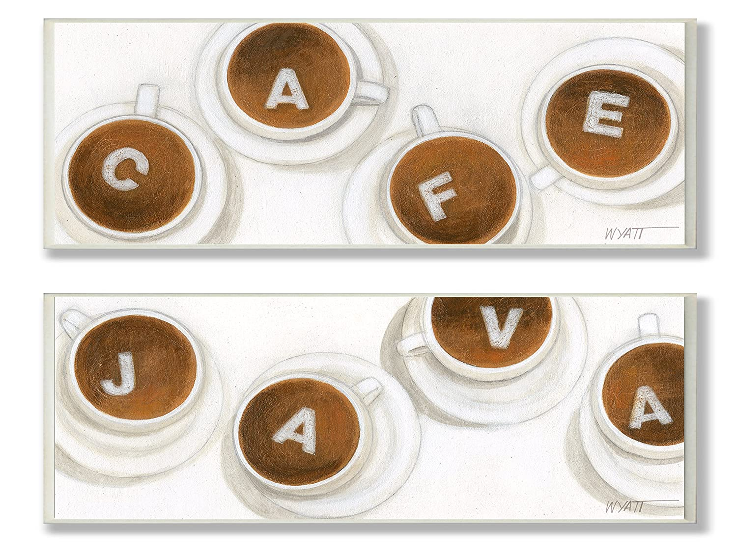 The Stupell Home Decor Collection Must Have Java and Cafe Rectangle Duo Kitchen Wall Plaque The Stupell Home Décor Collection kwp-1000 duo