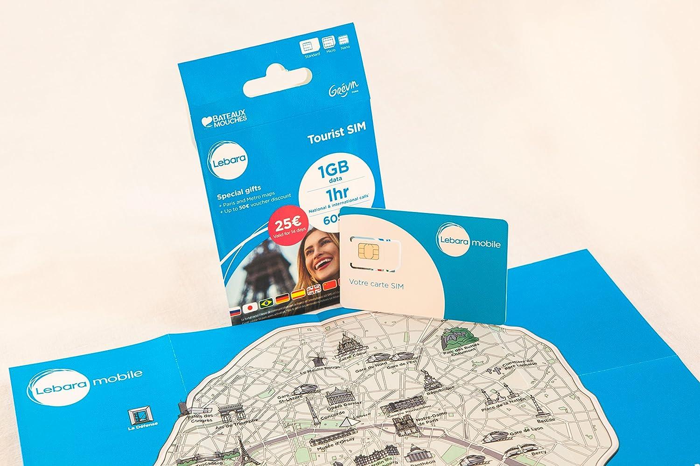 Lebara obstoufr100 V5 Tarjeta SIM turística Prepagada: Amazon.es ...