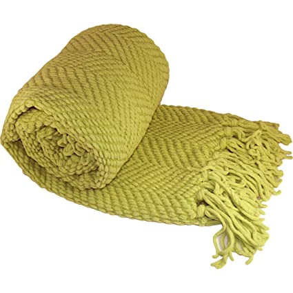 Amazon Home Soft Things Boon Knitted Tweed Throw Couch Cover Simple Citron Throw Blanket