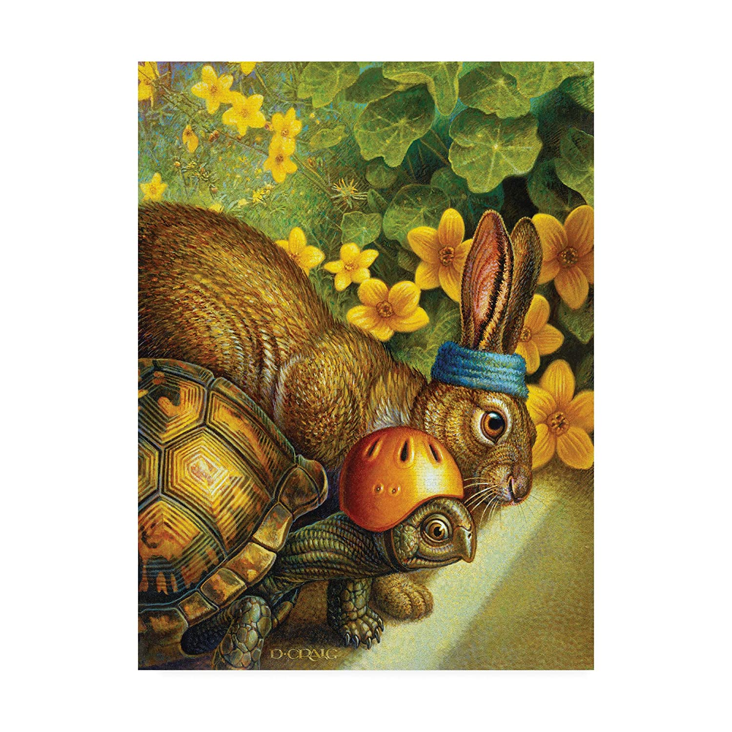 Trademark Fine Art Tortoise and Hare