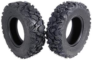 """MASSFX SL25812(x2) Big Horn 6PLY 25x8-12 Front ATV Tire, 2 Pack 25"""" Tall Tires"""
