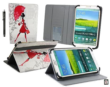 Emartbuy bq Aquaris M8 Tablet PC 8 Pulgadas Dama Elegante Ángulo Múltiples Ejecutivo Folio Funda Carcasa Wallet Case Cover con Ranuras para Tarjetas+ ...